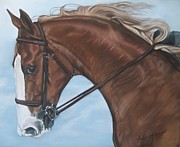 Dressage Horse Originals - Dressage horse by Audrey Altemose