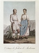 Dresses Prints - Dresses Of The Indians From Michoacan Print by Everett