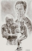 Pro Football Prints - Drew Bledsoe Print by Jonathan Tooley