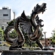 Philadelphia Digital Art Prints - Drexel University Dragon Print by Bill Cannon