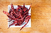Extreme Restaurant Posters - Dried Chilli Poster by Tim Hester