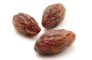 White Photo Posters - Dried Medjool dates Poster by Fabrizio Troiani