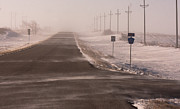 Drifting Snow Photos - Drifting County 23 by Wayne Vedvig