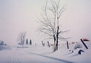 Inhospitable Prints - Drifting Snow Print by Conrad Mieschke