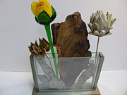 Floral Sculpture Posters - Driftwood and Friends Poster by Bill Griffin