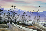 Seacoast Prints - Driftwood Landscape Print by James Williamson