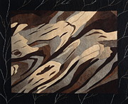 Fiber Art Posters - Driftwood Poster by Patty Caldwell