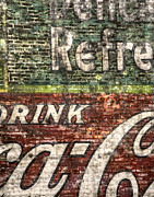 Brick Framed Prints - Drink Coca-Cola 1 Framed Print by Scott Norris