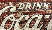 Red Brick Posters - Drink Coca-Cola 2 Poster by Scott Norris