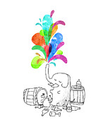 Cute Cartoon Art - Drink Drank Drunk by Budi Satria Kwan