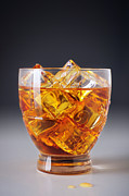 Golden Brown Prints - Drink on ice Print by Carlos Caetano