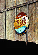 Bottle Cap Posters - Drink Pepsi Cola Poster by Ron Regalado