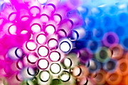 Vivid Prints - Drinking straws 1 Print by Jane Rix