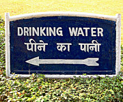 Drinking Water Sign Print by Ethna Gillespie