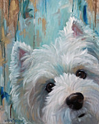 Westie Dog Paintings - Drip by Hanging The Moon