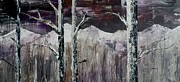 Reno Nevada Painting Prints - Dripping Aspen Print by Chad Rice