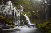Columbia River Gorge Prints - Dripping Wet Print by Darren  White