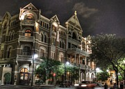 Texas Architecture Prints - Driskill Hotel Print by Jane Linders