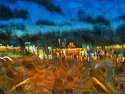 Drive By Night Print by Wendy J St Christopher