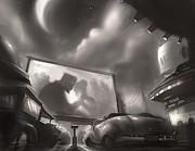 Noir Digital Art - Drive-In by Alex Ruiz