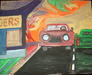 Drive In Painting Framed Prints - Drive In  Framed Print by James  Christiansen