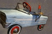 Hubcaps Digital Art - Drive In Pedal Car by Michelle Calkins
