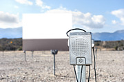 Drive In Movie Theatre Speakers Acrylic Prints - Drive-in theater Acrylic Print by Joe Belanger