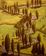 Drive Pastels Posters - Drive Through Italy Poster by Joseph Hawkins