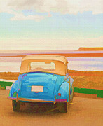 Sunday Drive Prints - Drive to the Shore Print by Edward Fielding