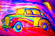 Linked Painting Prints - Driving home  Print by Hilde Widerberg