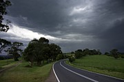 Gippsland Prints - Driving Into A Storm Print by Lee Stickels