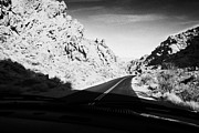 Domes Prints - Driving Through Canyons On The White Domes Road Scenic Drive Valley Of Fire State Park Nevada Usa Print by Joe Fox