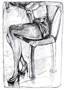 Chair Drawings Framed Prints - Drop Framed Print by Ertan Aktas