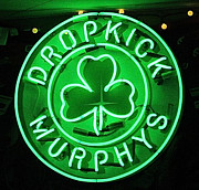 Bruce Springsteen Art - Dropkick Murphys Neon Sign by Melinda Saminski