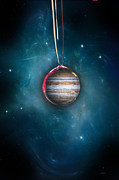 Jupiter Digital Art Posters - Drops Of Jupiter Poster by Peter Chilelli