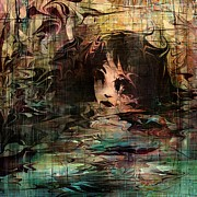Rachel Christine Nowicki Digital Art Posters - Drowned in her tears Poster by Rachel Christine Nowicki
