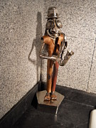 Copper Sculpture Sculptures - Dr.sax by Carl LeGrand
