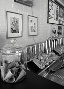 Drug Stores Prints - Drug Store Soda Fountain Print by Mel Steinhauer
