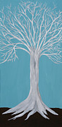 Tree Roots Paintings - Druid Tree 2 by Maura Satchell