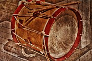 South African Mixed Media Prints - Drum Print by Todd and candice Dailey