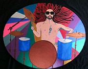 Abstract Drum Paintings - Drummer by Melissa Darnell Glowacki