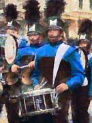Drummers Print by Susan Savad