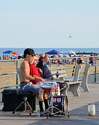 New Jersey Musician Framed Prints - Drumming in the Sun in Asbury Park NJ Framed Print by Alex Vishnevsky