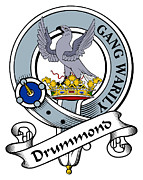 Genealogy Prints - Drummond Clan Badge Print by Heraldry
