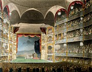 Drury Lane Theatre, From Microcosm Print by T. & Pugin, A.C. Rowlandson