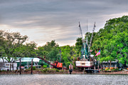 Shrimp Boats Posters - Dry Docked Shrimp Boat Poster by Scott Hansen