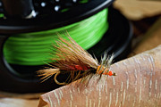 Lure Digital Art Posters - Dry Fly - D003399b Poster by Daniel Dempster