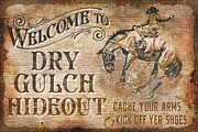 Bucking Bronco Framed Prints - Dry Gulch Hideout Framed Print by JQ Licensing