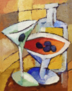 Dinner Paintings - Dry Martini by Lutz Baar