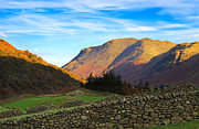 Dry Lake Prints - Dry stone walls in Patterdale in the Lake District Print by Louise Heusinkveld
